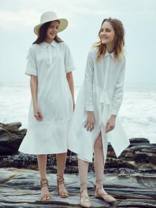 Three d 白色连衣裙