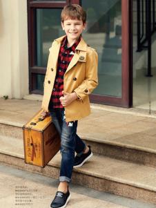 杰米熊男童装17新款风衣外套
