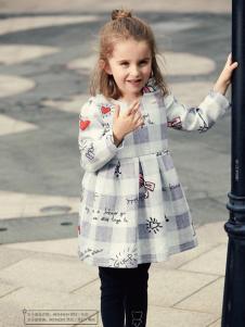 杰米熊女童装17新款连衣裙