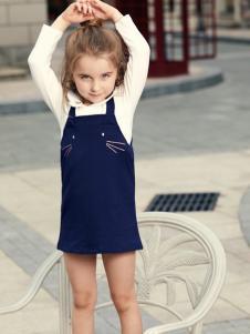 杰米熊女童装17新款两件套