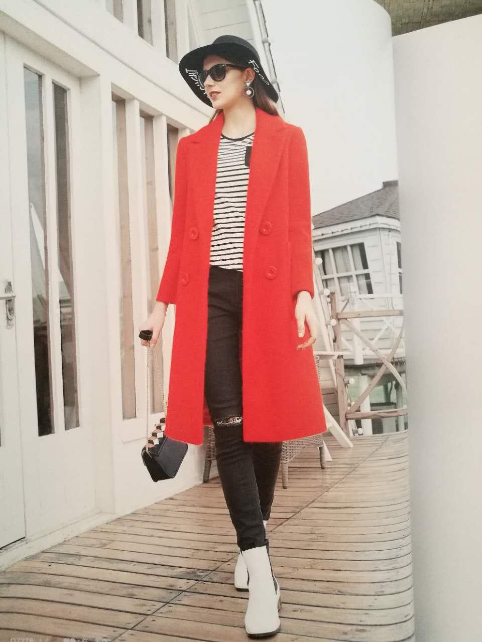 新款女装批发 布石冬装羽绒服大衣外套走份批发 品牌女装折扣走份