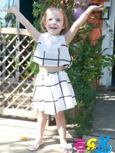 芭乐兔童装17新款套装裙