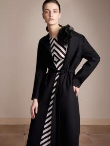 HON.B红贝缇17经典黑色大衣