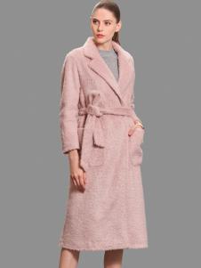 3ffusive貂绒女式中长大衣