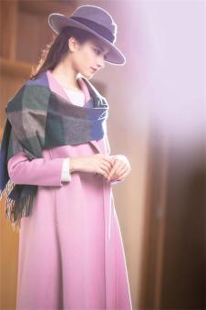 茉诗可可MISICAKOO粉色呢子外套 款号290453