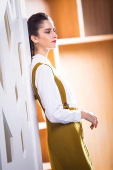 茉诗可可MISICAKOO黄色背带裙 款号290449