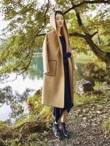 BELLO ANN2017驼色长款外套