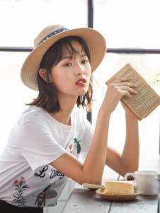 速品女装白色印花T恤