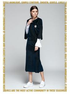 TRUGIRL楚阁2017新款纯色半身裙