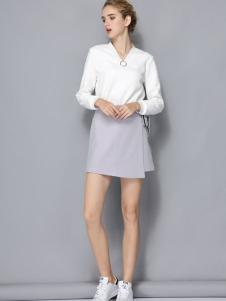 依路佑妮新款白色衬衫