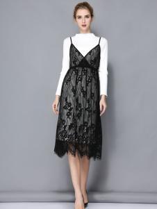 依路佑妮时尚两件套裙装17新款
