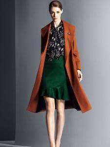 卡索女装经典气质大衣
