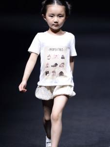 NNE&KIKI童装女童甜美印花T恤