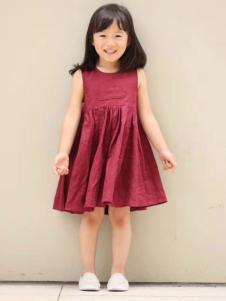 NNE&KIKI女小童红色连衣裙