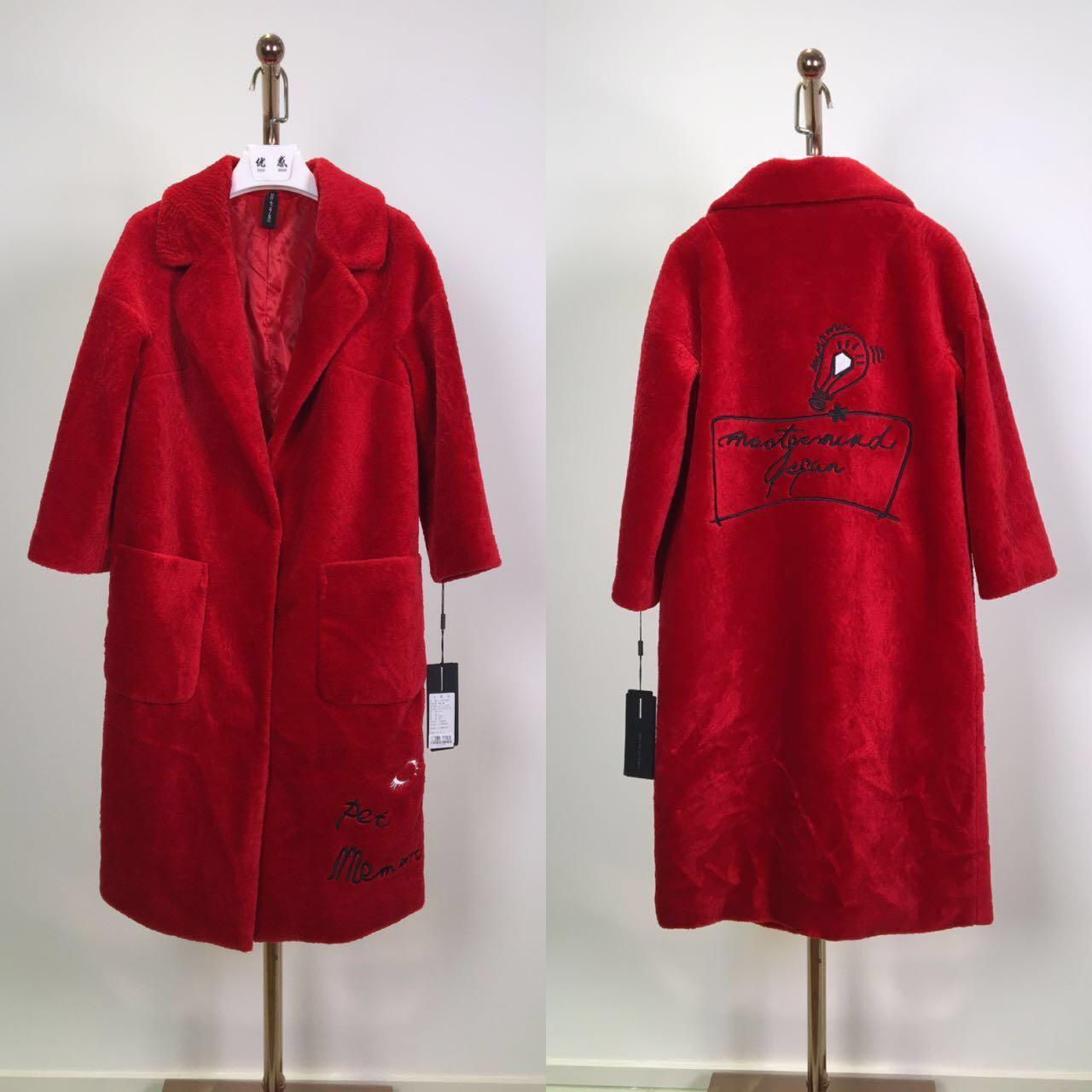品牌折扣 羊剪绒外套冬装 高端时尚女装批发 库存尾货走份