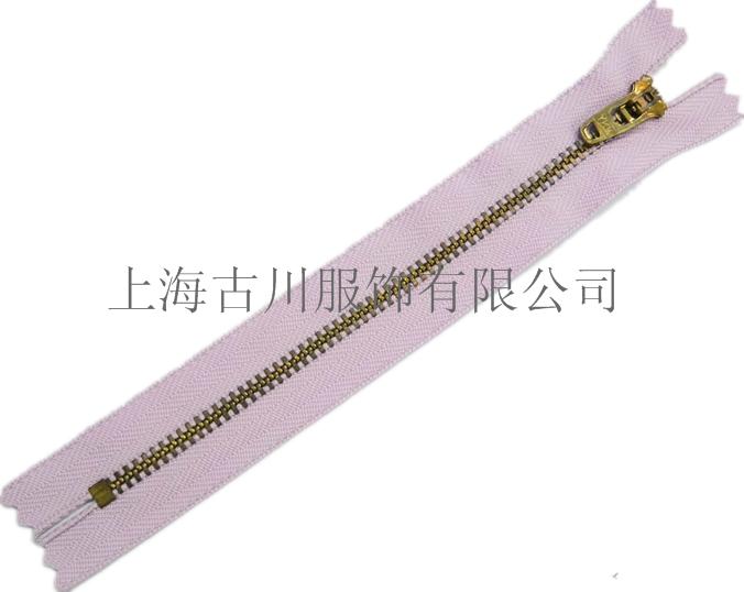 采购上海闸北正品YKK拉链2号Y型青古铜闭口拉链