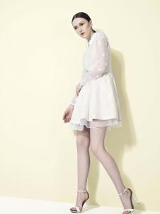 諾可顏新款白色連衣裙