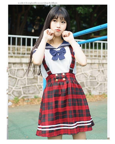 优雅的日韩校园服饰_【厂家推荐】专业的学生日韩学院风水手服批发