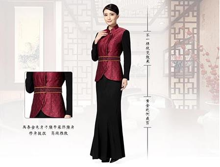 中式餐厅创意圆弧工作服