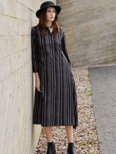 唯简尚女装文艺两件套连衣裙