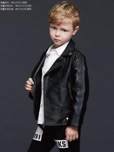 YukiSo童装男童皮衣17新款