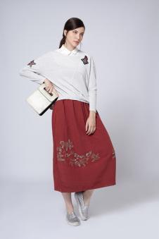 红色裙子 款号291473