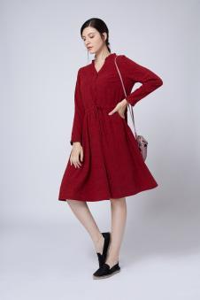 红色连衣裙 款号291478