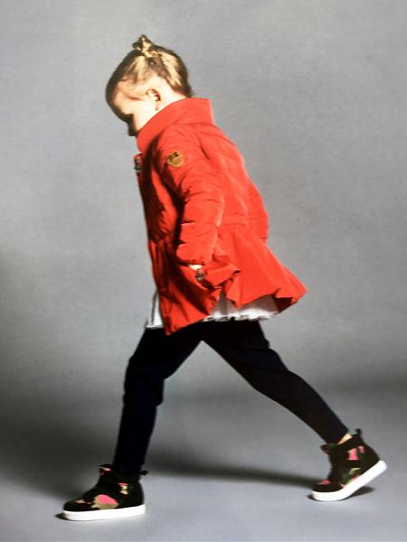 的纯DISHiON童装秋冬新款红色羽绒服