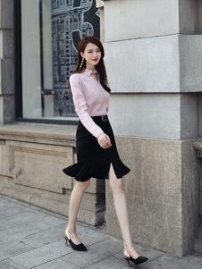 千姿惠女装2017新款包臀半身裙