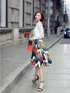 千姿惠女装2017新款半身裙