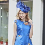 尚约女装蓝色连衣裙  带给你最美的景致