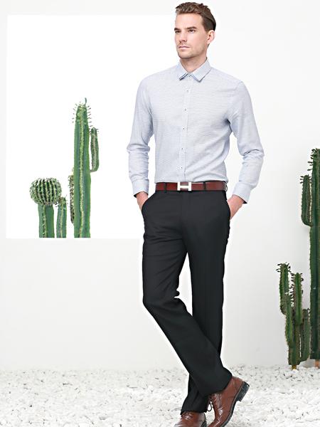 富绅男装长袖商务休闲衬衫