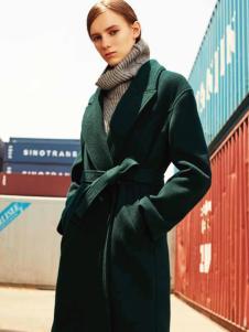 T&W女装双面呢大衣17新款