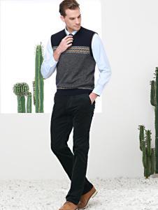富绅男装毛衫两件套