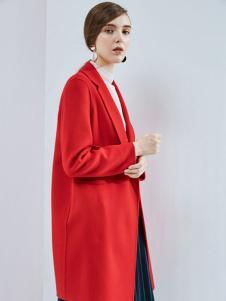丹佛蒂欧女装2017红色外套