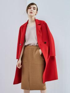 丹佛蒂欧女装2017大红大衣