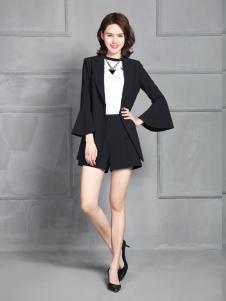 凤恋妮女装2017黑色套装