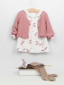 阳光鼠童装时尚两件套17新款