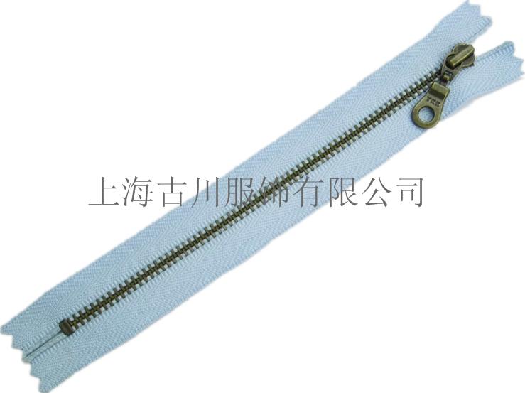 上海YKK拉链5号青古铜闭口拉链交期快