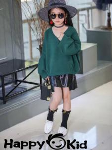 小嗨皮女童毛衫
