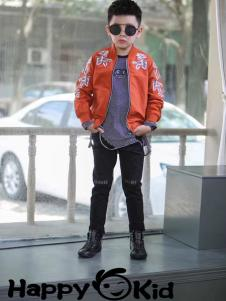 小嗨皮童装印花外套