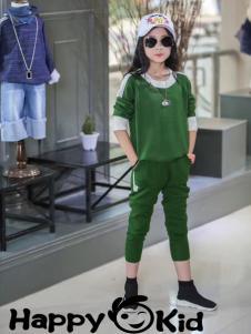小嗨皮女童时尚套装