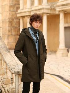 爱迪丹顿2017新款深棕色大衣