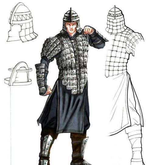 清代士兵的铠甲样式