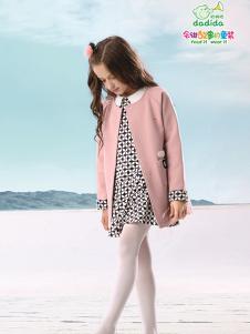 嗒嘀嗒童装新款粉色大衣