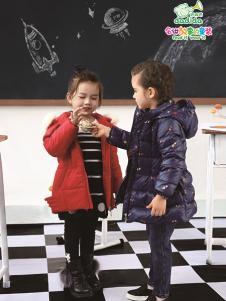 嗒嘀嗒童装2017秋冬新款羽绒服