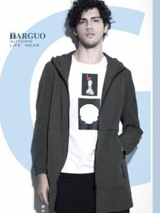 它钴男装2017年秋冬新款深灰色外套
