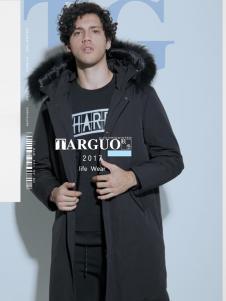 它钴男装2017年秋冬新品黑色羽绒服