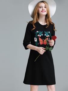 艾米女装印花连衣裙