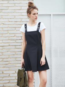 艾诺绮新款背带裙